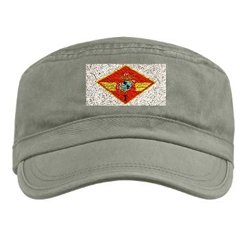 1MAW - A01 - 01 - 1st Marine Aircraft Wing with Text - Military Cap